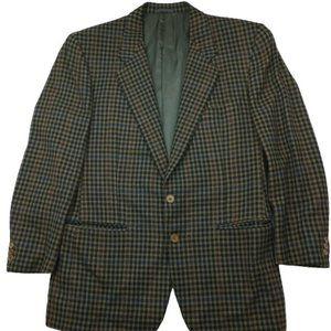 Ermenegildo Zegna Houndstooth Cashmere Suit Blazer